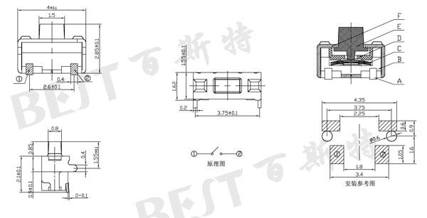TS-1110轻触开关